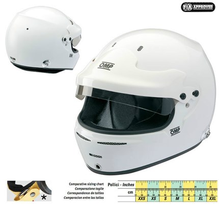 Casco OMP SPEED 10 HANS.