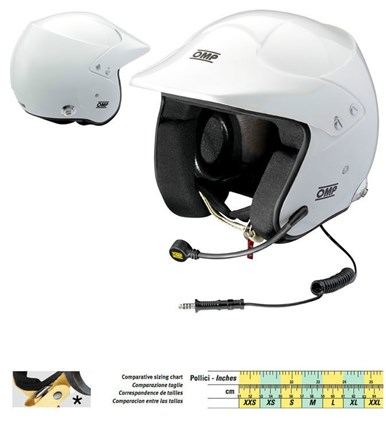 Casco OMP JET 10 INTERCOM HANS.